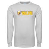 White Long Sleeve T Shirt-Flat Valpo Shield
