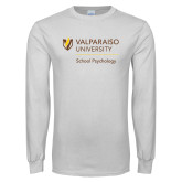 White Long Sleeve T Shirt-School of Psychology Vertical