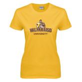 Ladies Gold T Shirt-Valparaiso University
