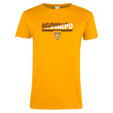 Ladies Gold T Shirt-#GOVALPO