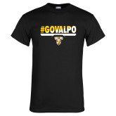 Black T Shirt-#GOVALPO