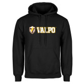 Black Fleece Hoodie-Flat Valpo Shield