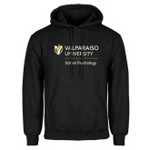 Black Fleece Hoodie-School of Psychology Vertical