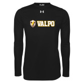 Under Armour Black Long Sleeve Tech Tee-Flat Valpo Shield