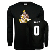 Black Long Sleeve TShirt-Official Logo, Custom Tee w/ Name and #