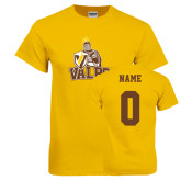 Gold T Shirt-Official Logo, Custom Tee w/ Name and #