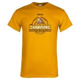 Gold T Shirt-2017 Mens Basketball Champions Basketball Ribbon