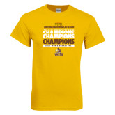 Gold T Shirt-2017 Mens Basketball Champions Repeating