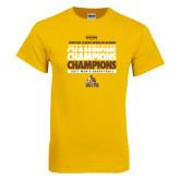 Gold T Shirt-2017 Mens Basketball Champions Repeating