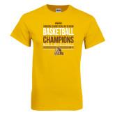 Gold T Shirt-2017 Mens Basketball Champions Stacked