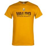 Gold T Shirt-Stacked Valpo Design