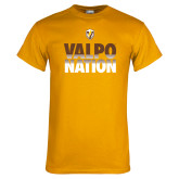 Gold T Shirt-Valpo Nation