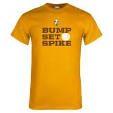 Gold T Shirt-Bump Set Spike