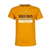 Youth Gold T Shirt-Valpo Nation
