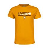 Youth Gold T Shirt-#GOVALPO