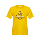 Youth Gold T Shirt-2017 Mens Basketball Champions Basketball Ribbon