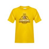 Youth Gold T Shirt-2017 Mens Basketball Champions Basketball Ribbon