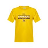Youth Gold T Shirt-2017 Mens Basketball Champions