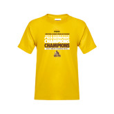 Youth Gold T Shirt-2017 Mens Basketball Champions Repeating