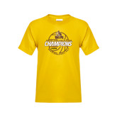 Youth Gold T Shirt-2017 Mens Basketball Champions Basketball