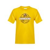 Youth Gold T Shirt-2017 Mens Basketball Champions Basketball