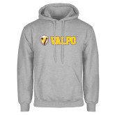 Grey Fleece Hoodie-Flat Valpo Shield