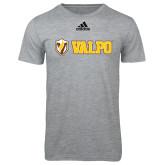 Adidas Sport Grey Logo T Shirt-Flat Valpo Shield