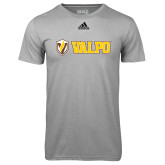Adidas Climalite Sport Grey Ultimate Performance Tee-Flat Valpo Shield