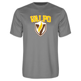 Performance Grey Concrete Tee-Stacked Valpo Shield