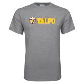 Grey T Shirt-Flat Valpo Shield