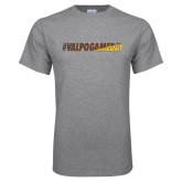 Grey T Shirt-#VALPOGAMEDAY