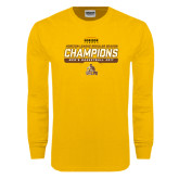 Gold Long Sleeve T Shirt-2017 Mens Basketball Champions