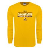 Gold Long Sleeve T Shirt-2017 Mens Basketball Champions