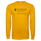 Gold Long Sleeve T Shirt-School of Psychology Vertical