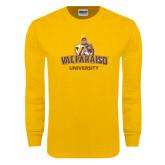 Gold Long Sleeve T Shirt-Valparaiso University