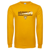 Gold Long Sleeve T Shirt-#GOVALPO