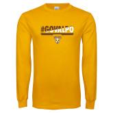 Gold Long Sleeve T Shirt-#GOVALPO