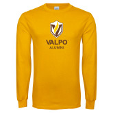 Gold Long Sleeve T Shirt-University Alumni Mark