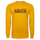 Gold Long Sleeve T Shirt-Football Design