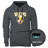 Contemporary Sofspun Charcoal Heather Hoodie-Stacked Valpo Shield