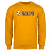Gold Fleece Crew-Flat Valpo Shield