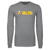 Grey Long Sleeve T Shirt-Flat Valpo Shield