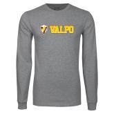 Grey Long Sleeve T Shirt-Flat Valpo Shield