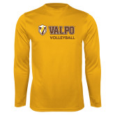 Performance Gold Longsleeve Shirt-Volleyball