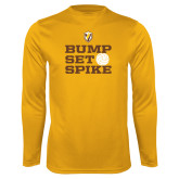 Performance Gold Longsleeve Shirt-Bump Set Spike