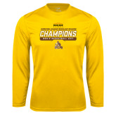 Syntrel Performance Gold Longsleeve Shirt-2017 Mens Basketball Champions