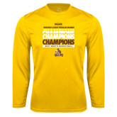 Syntrel Performance Gold Longsleeve Shirt-2017 Mens Basketball Champions Repeating