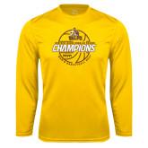 Performance Gold Longsleeve Shirt-2017 Mens Basketball Champions Basketball