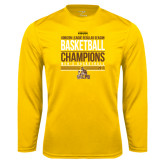 Syntrel Performance Gold Longsleeve Shirt-2017 Mens Basketball Champions Stacked