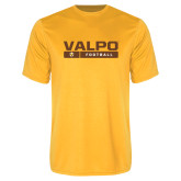 Performance Gold Tee-Football Design